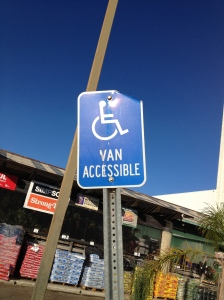 handicapped spot (photo by Wendy Kennar)
