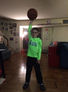 Ryan with basketball (photo by Wendy Kennar)
