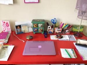 my desk (photo by Wendy Kennar)